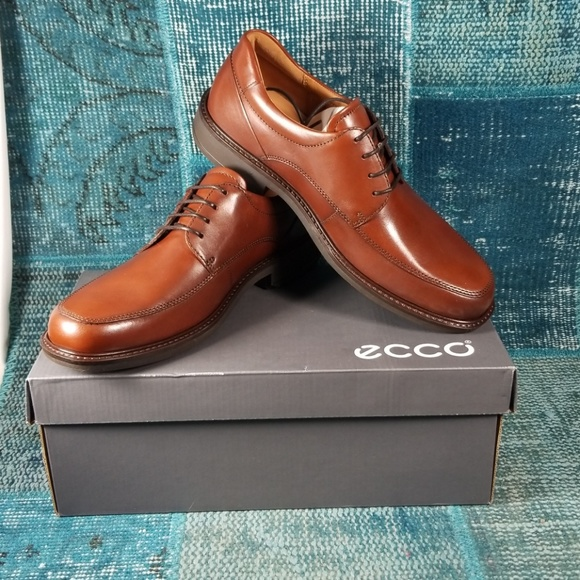 ECCO Womens Oxford Shoes Green Leather Shock Point Sz 42 11